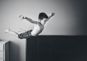 Jump hard with everything in you and fly!